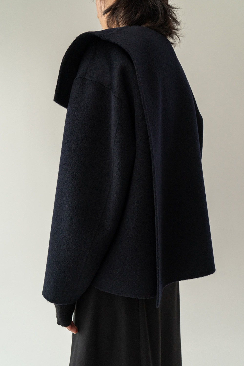 Lyrique handmade wool jacket navy
