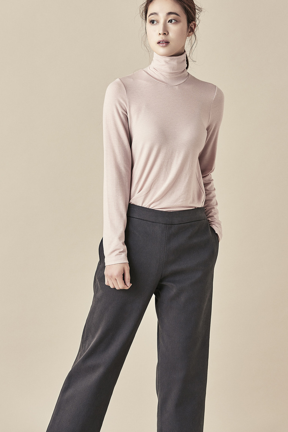 Brushed Cotton Cropped Pants 16FW
