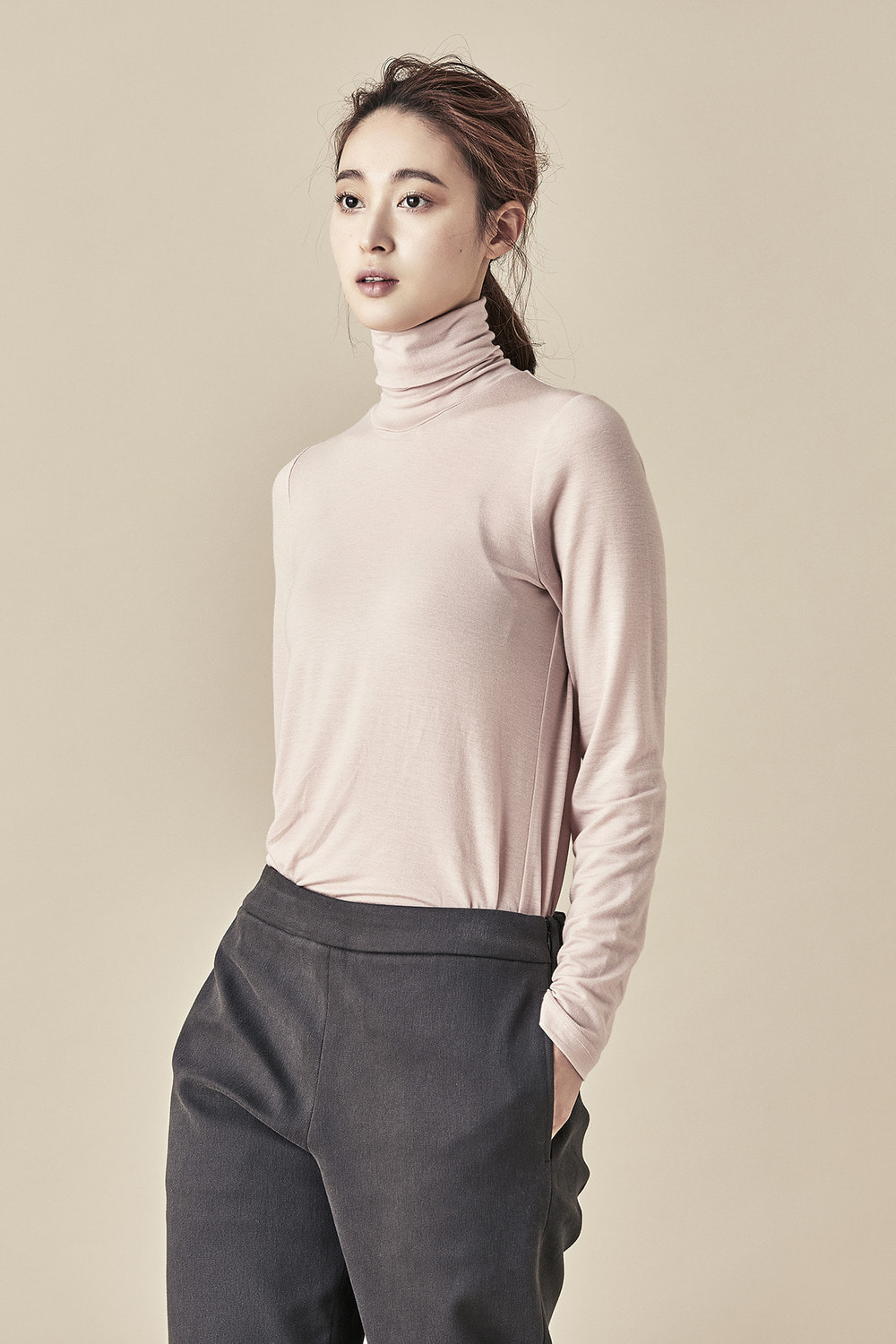 Tencel Turtleneck Tee