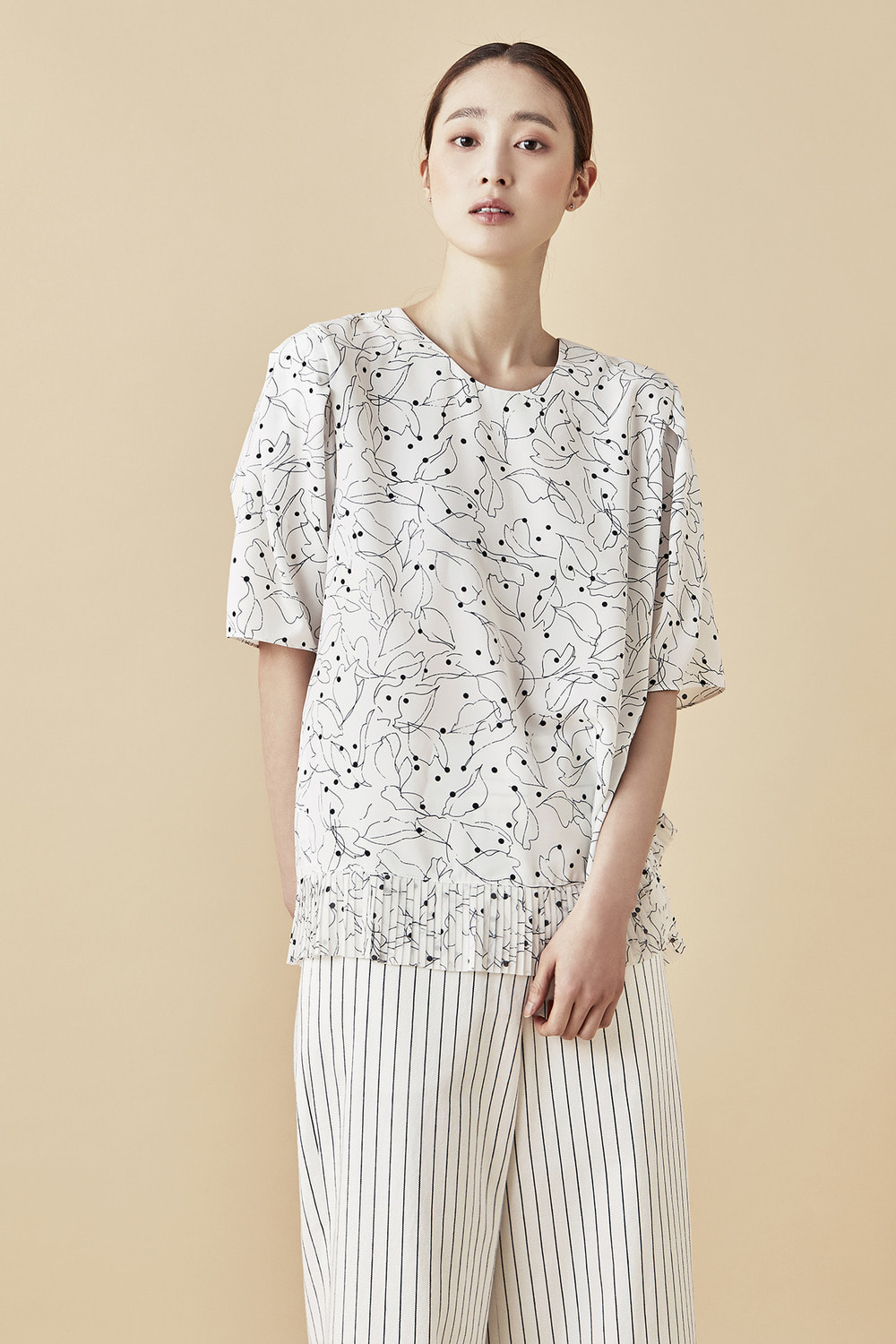 Leaf Pattern Blouse