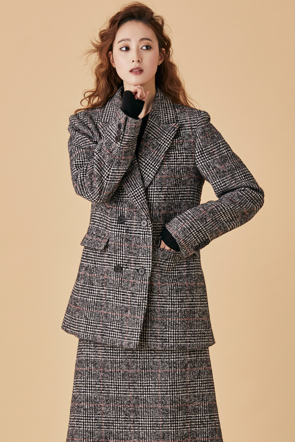 Glen Check Wool Double Jacket