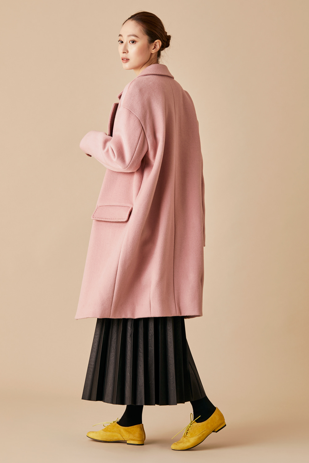 Felted Wool Coat - Pink