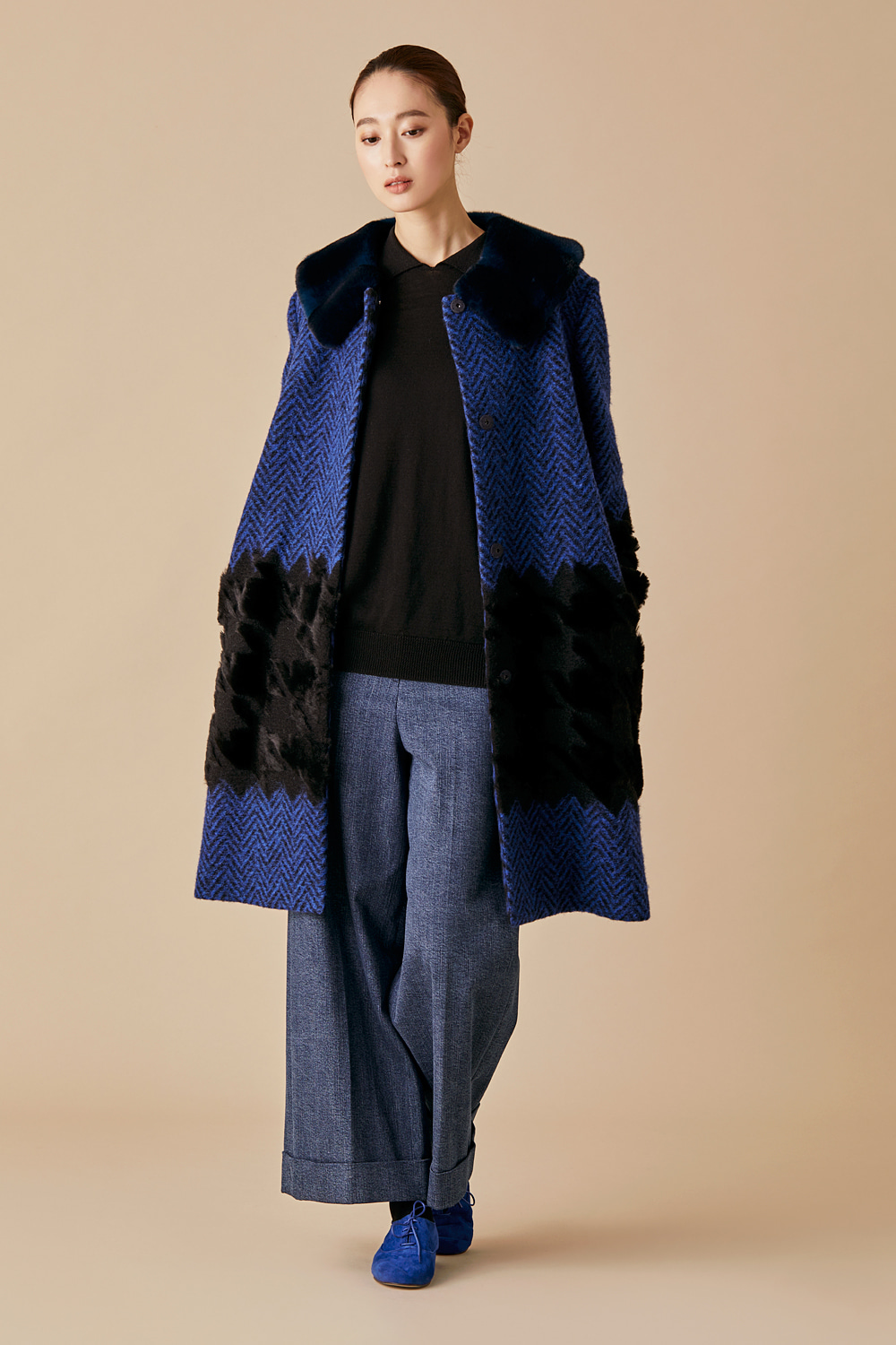 Herringbone Fur Coat