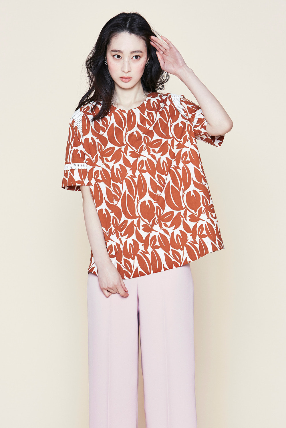 Gardenia Tropica Blouse Top