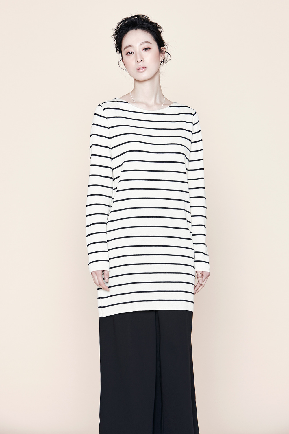 Fine Stripe Long Knit