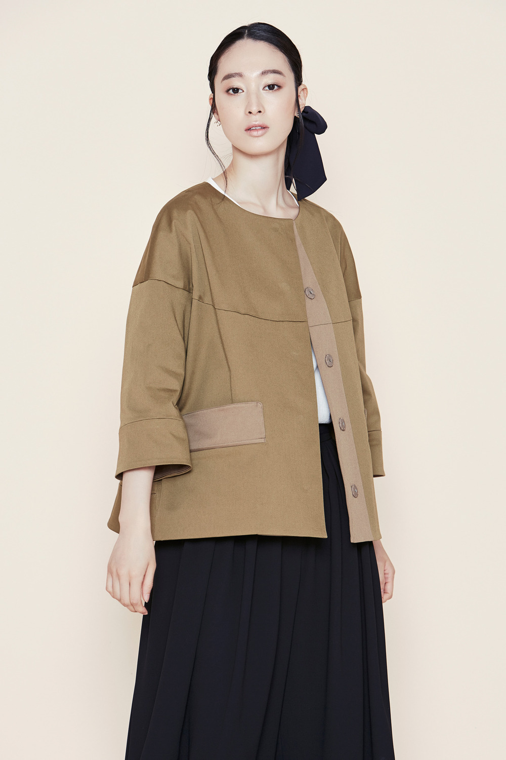 Round and Cropped Blouson
