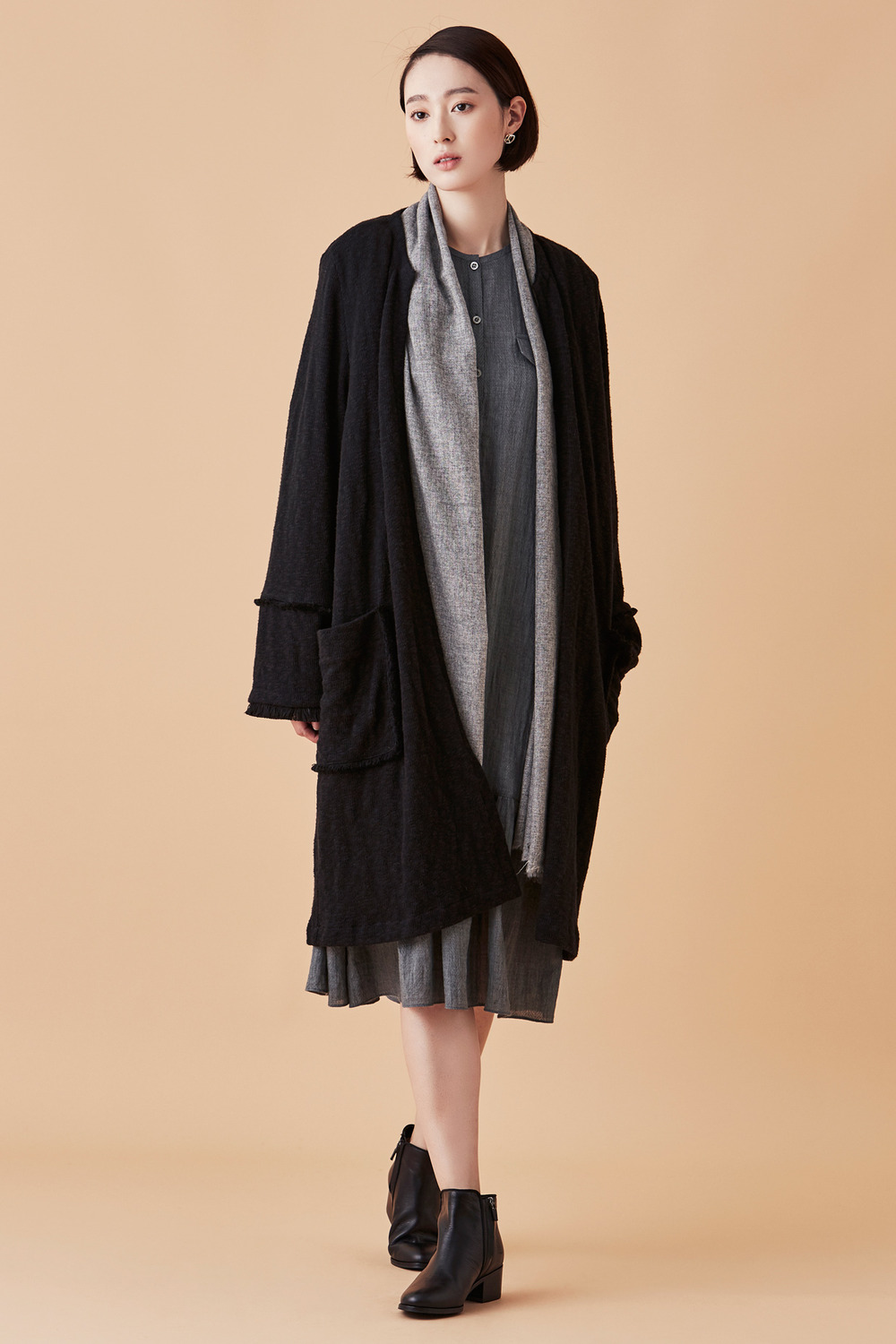 Folk Knit Dust Coat