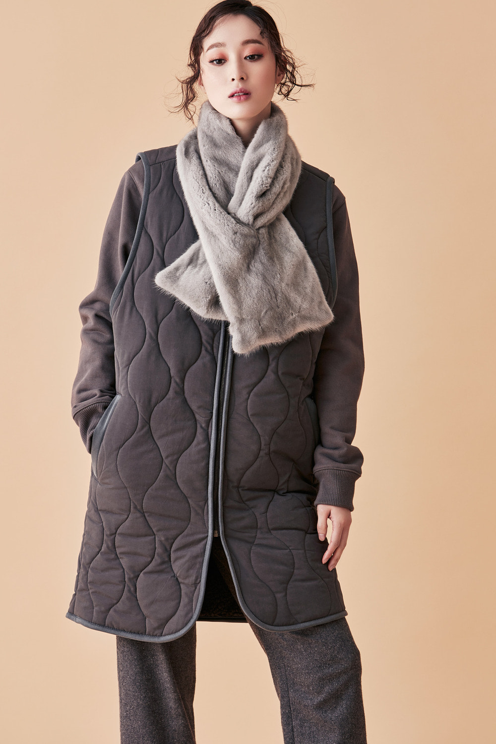 Padded Long Vest
