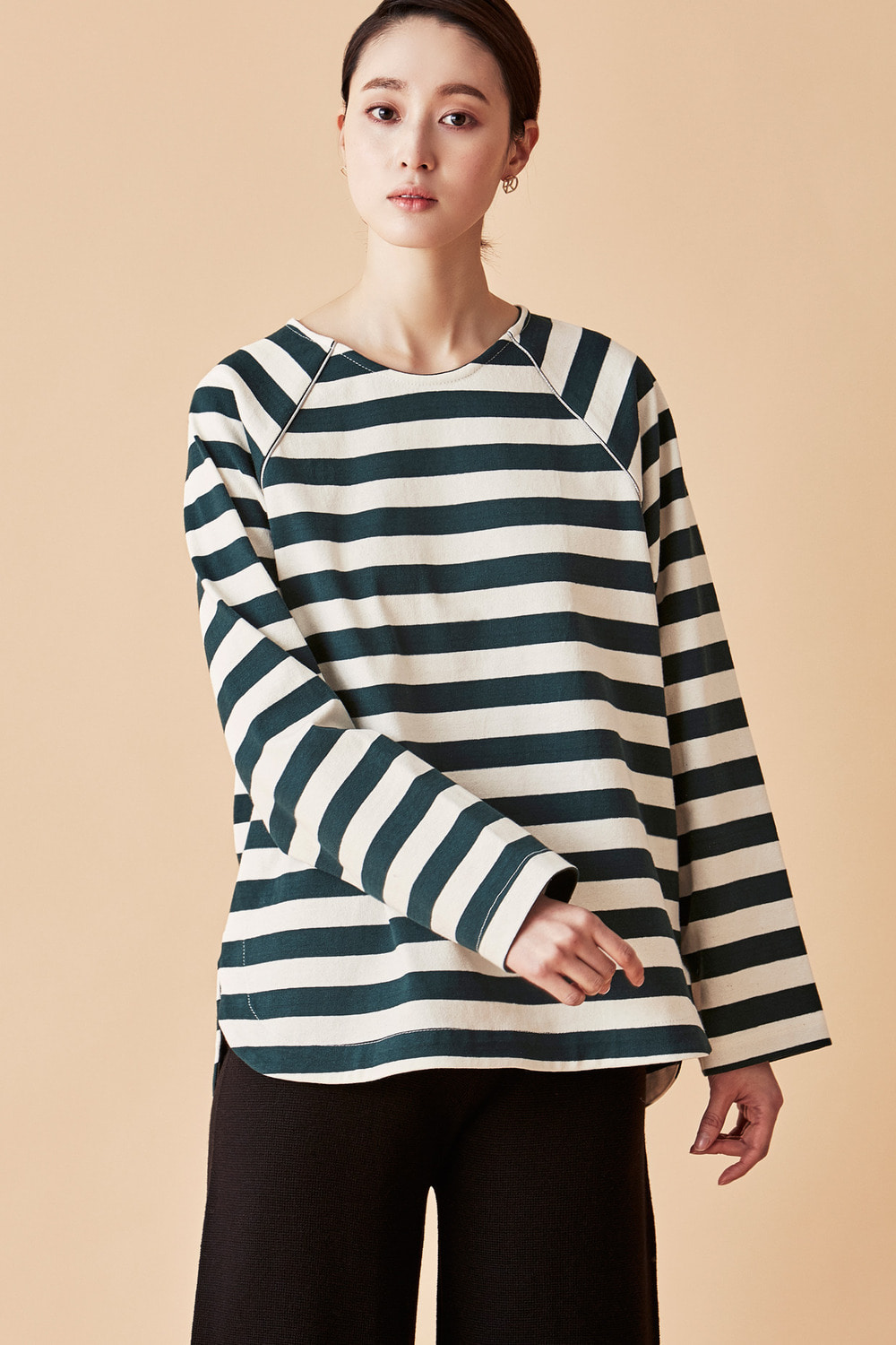 Metal Line Reglan Stripe Top