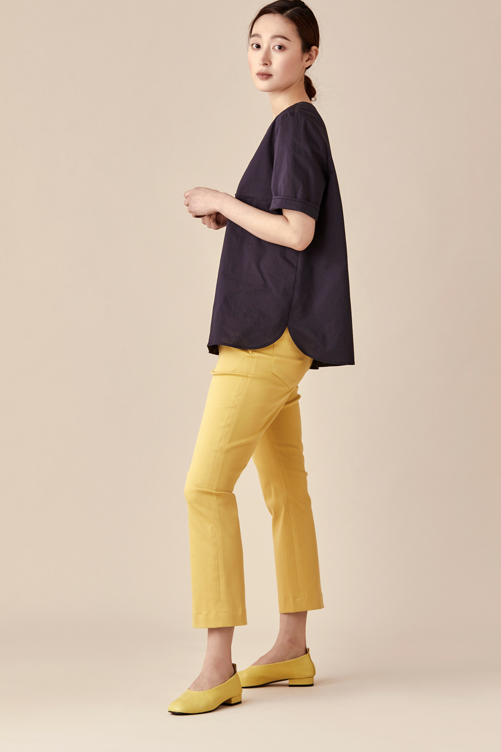 Bootcut Cropped Color Pants