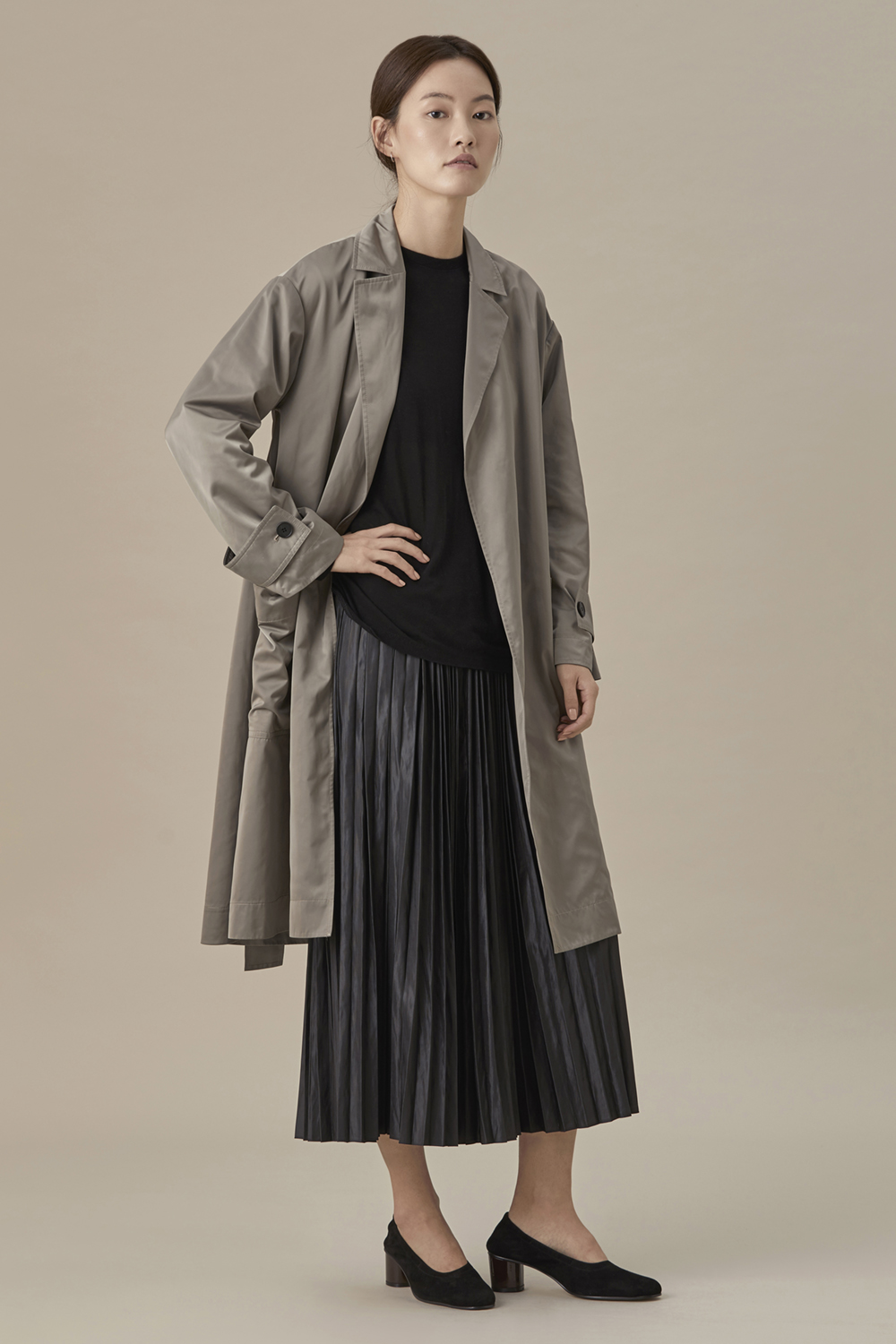 Belted Double Trench Coat