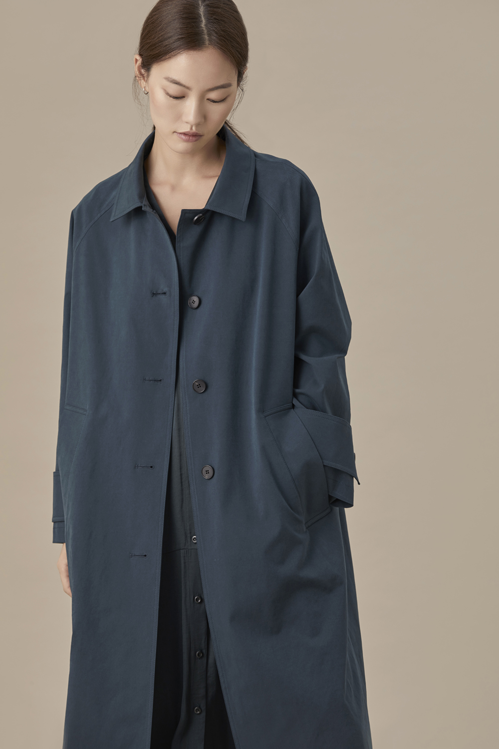 Single Fall Coat Deep Green