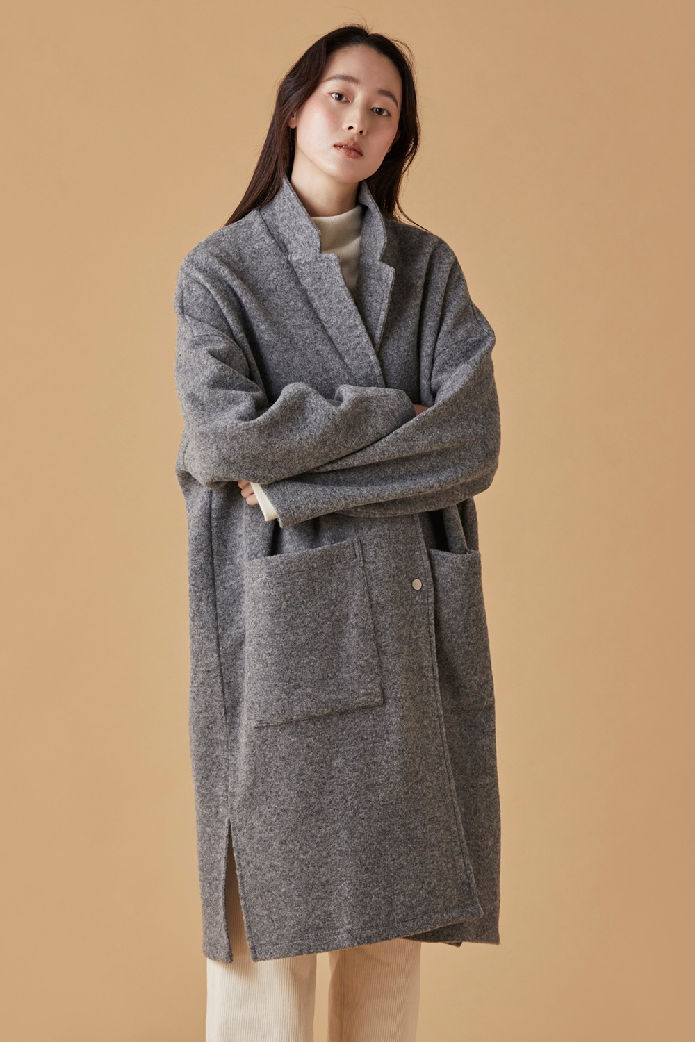 Soft Wool Blend Coat
