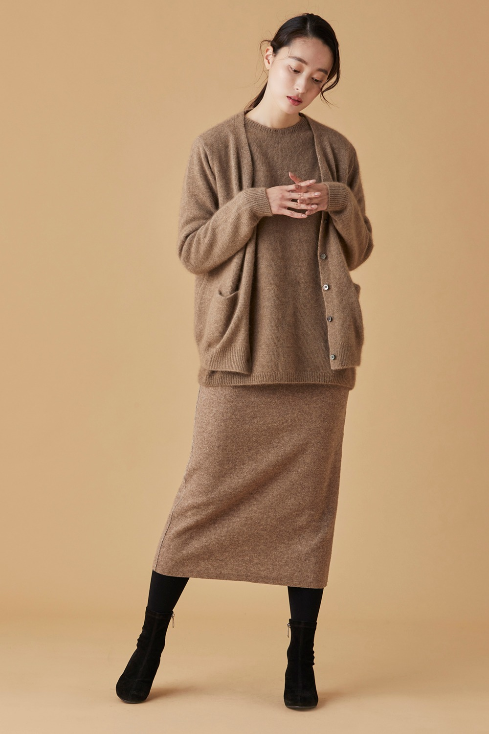 Hline Wool Skirt