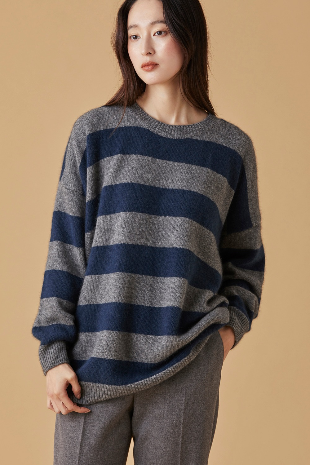 Raccoon Stripe Knit Top