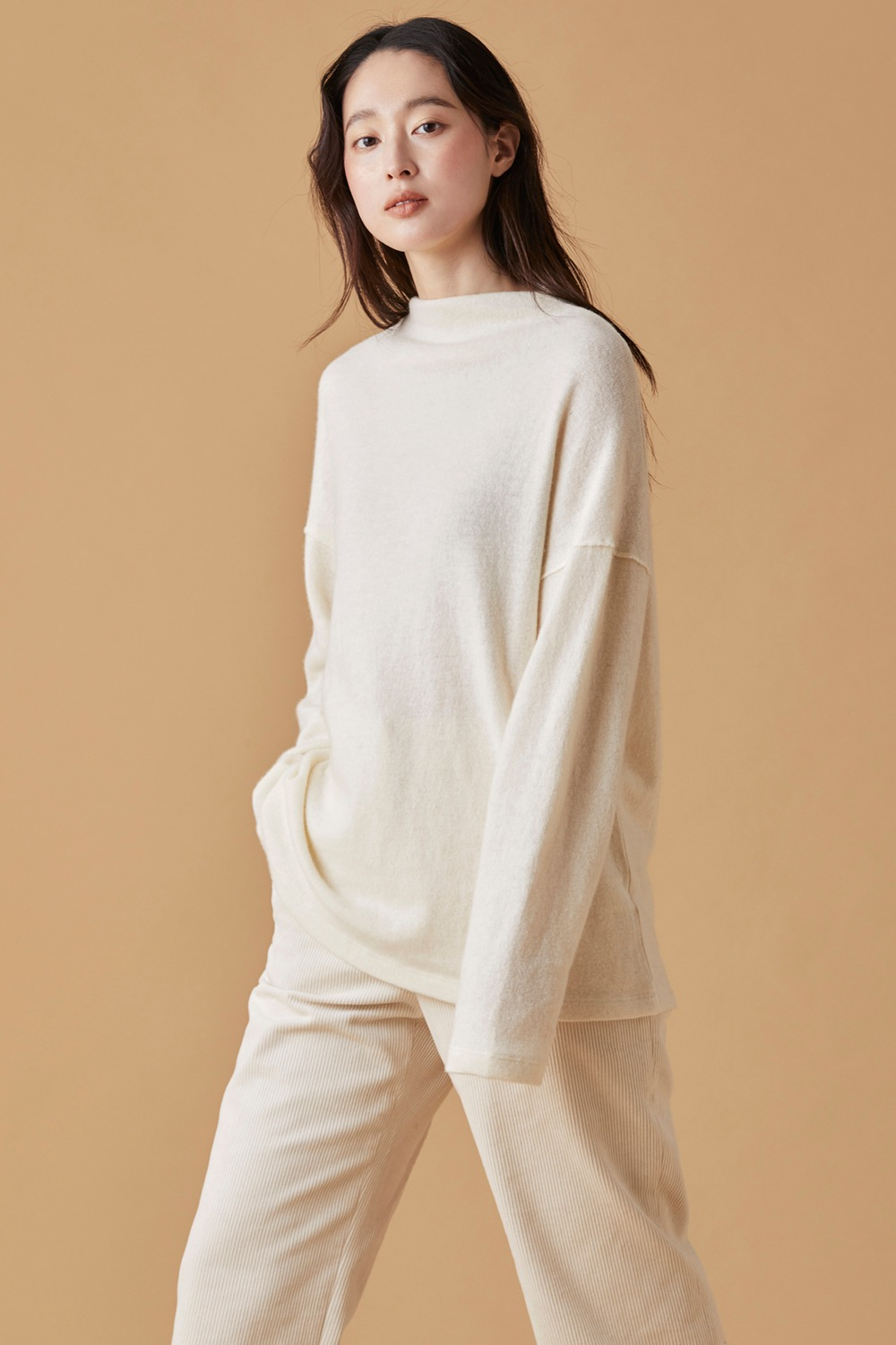 Boat Neck Wool Knit Top