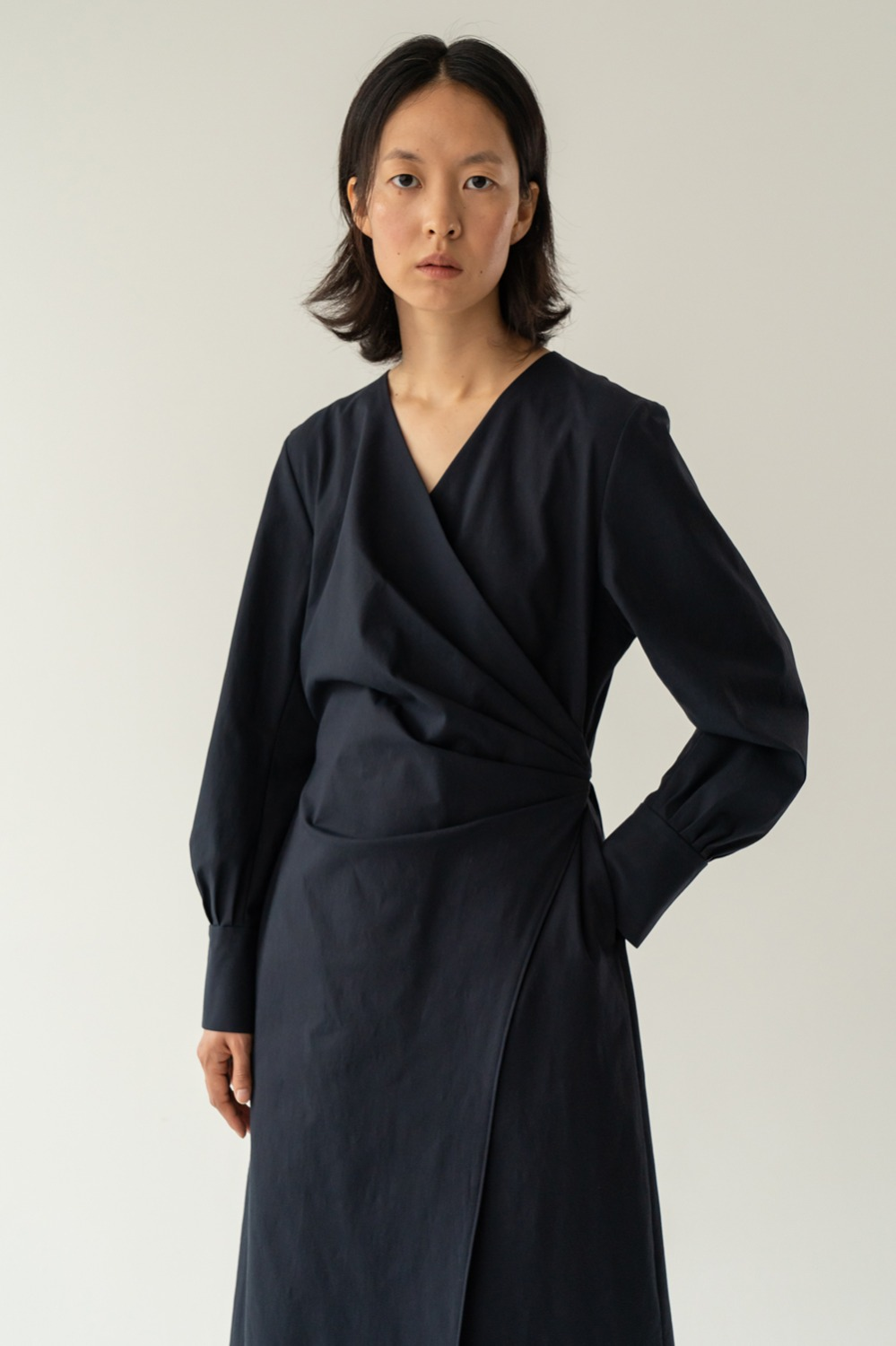 Poétique cotton dress navy