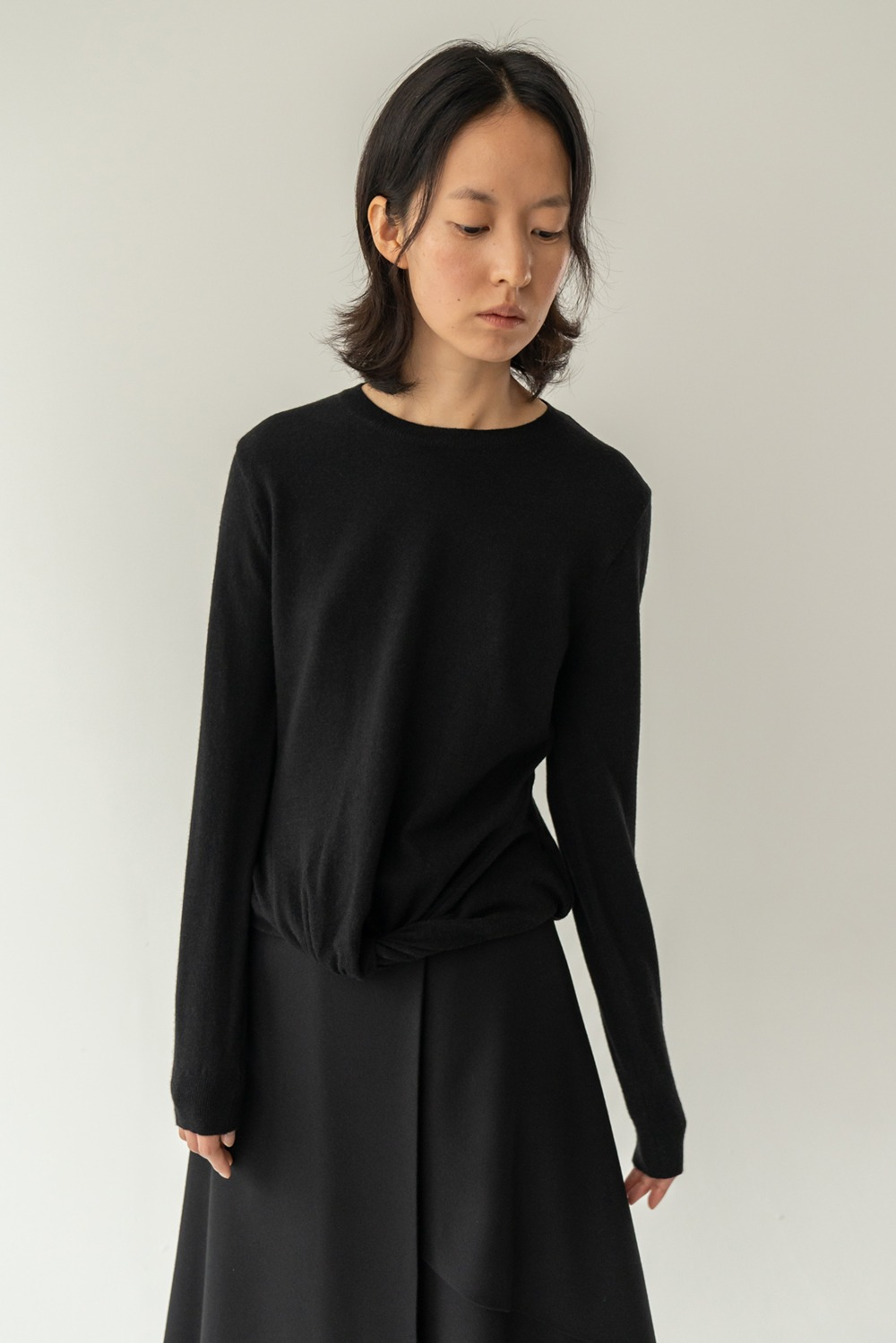 Lyrique knit top black
