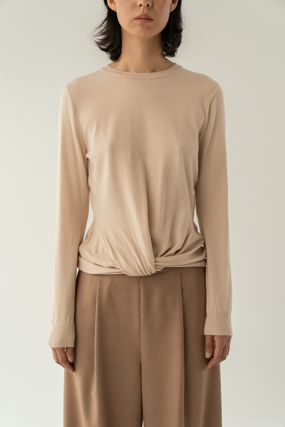 Lyrique knit top beige