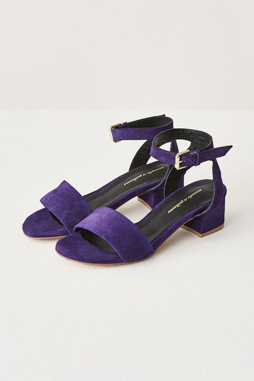 Purple Suede Sandals