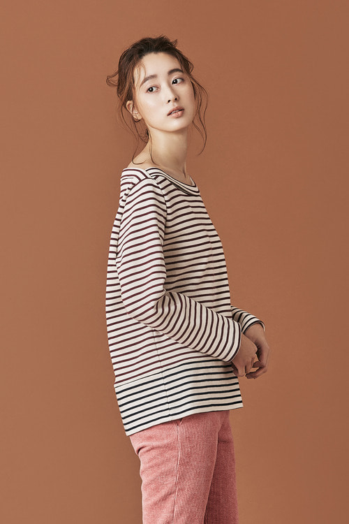Stripe Wide Boatneck Top