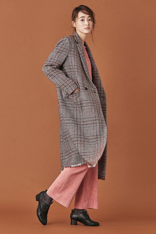 Glen Check Tailored Coat