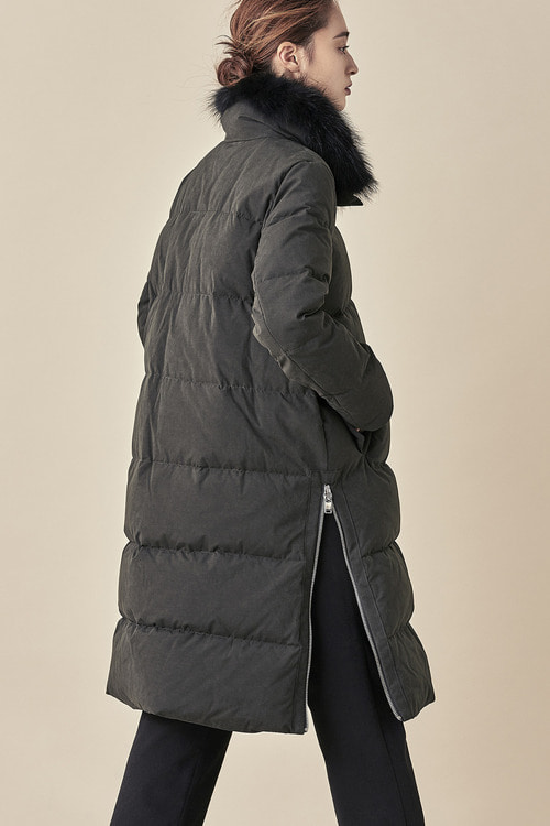Duck Down Raccoon Fur Padding Coat