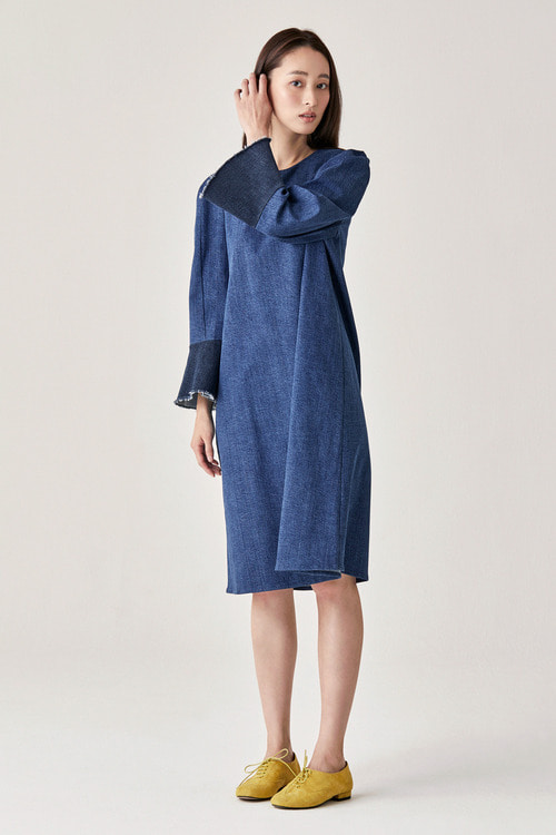 Denim Bell Sleeve Dress