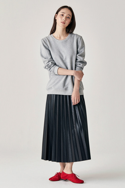 Full Pleats Skirt - Black