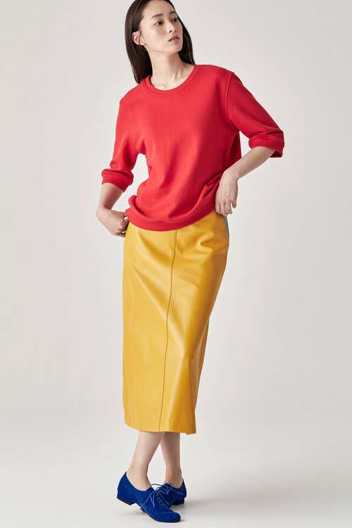 Marigold Leather Skirt