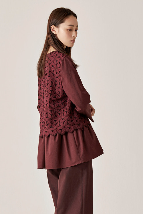 Eyelet Flora Layered Top