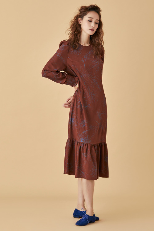 Brown Garden Dress