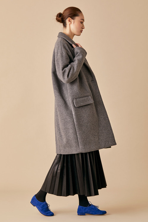 Felted Wool Coat - Grey