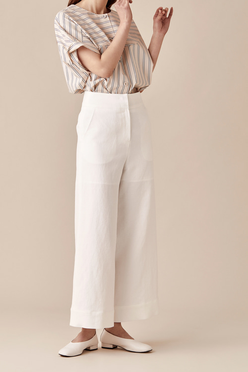 Linen Cotton Wide Pants