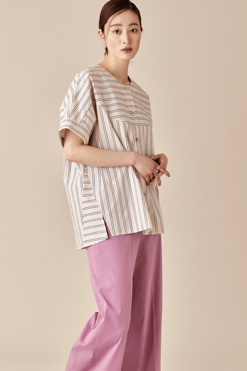 Striped Boxy Summer Blouse