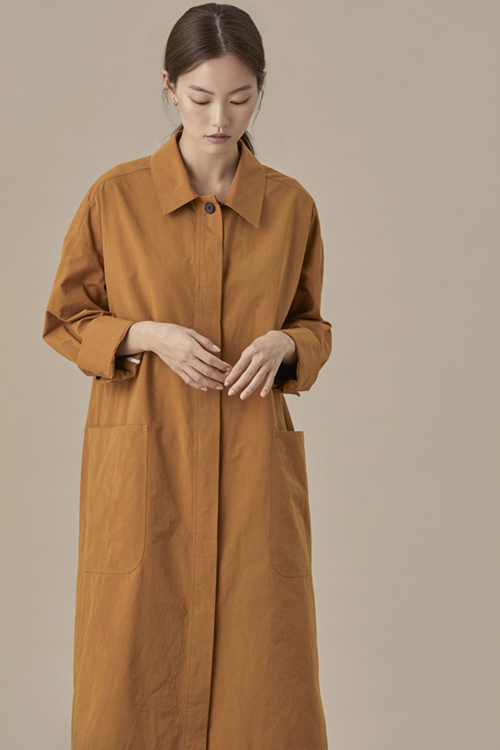 Back String Coat Pale Orange